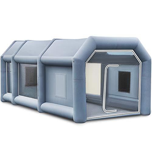 VEVOR 8x4x3m Aufblasbare Lackierkabine Zelt Spritzkabine Zelt Luftzelt Campingzelt Lackierkabine mit 2 Gebläse