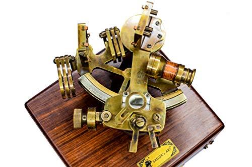 Sailor's Art Schubkarre mit Holzkiste, antikes Messing, mit Holzkiste