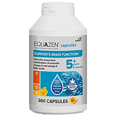 Equazen Family Capsules | Omega 3 & Omega 6 Supplement | 360 capsules | Clinically Scientific blend of DHA, EPA and GLA | Suitable for children from 5 years to adult
