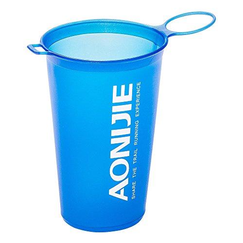 Lixada BPA Free Taza Plegable del Agua Suave para El Ciclo Al Aire Libre del Maratón de Los Deportes 200ML (Azul)