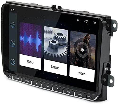 GPS Navigation Head Unit Sat Nav AUD Audio Player MP5 FM Radio Receptor Coche Estéreo De 9 Pulgadas Táctil Android 8.1 Compatible para VW Passat Golf MK5 MK6,8 Core 4G+WiFi 2+32GB