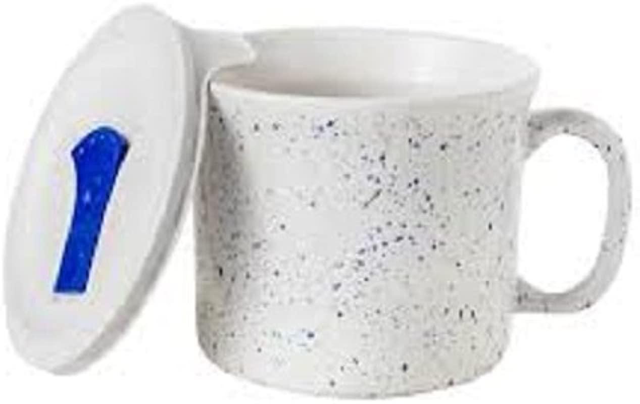 Corning Ware 20 Oz Meal Mug W Lid Speckled Marine Blue Set Of 2 Limited Edition