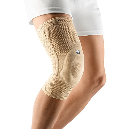 Bauerfeind - GenuTrain - Knee Support Brace - Targeted Support for Pain Relief and Stabilization of The Knee - Size 5, Comfort - Color Nature