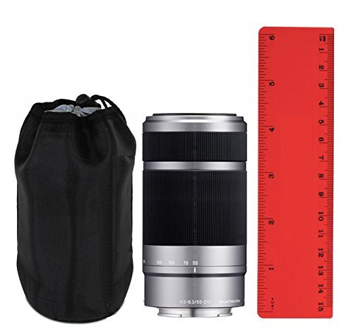 """Sony SEL55210 55-210mm F4.5-6.3 (4.5"""") Prototypical Lens Case + Lens Cleaning Cloth"""