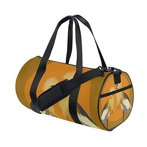 TIZORAX Bolsa de Viaje para Tambor o Tambor con Diseño de Grúas de Gimnasio