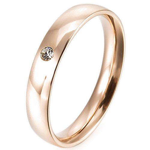 MunkiMix Acero Inoxidable Banda Venda Anillo Ring Cz Cubic Zirconia Circonita Plata Oro Dorado Rosa Oro Tono Alianzas Boda