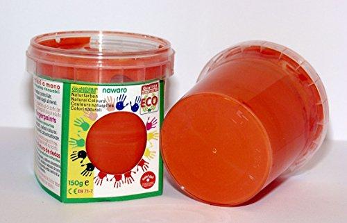 ökoNORM nawaro Fingerfarbe orange, 150g