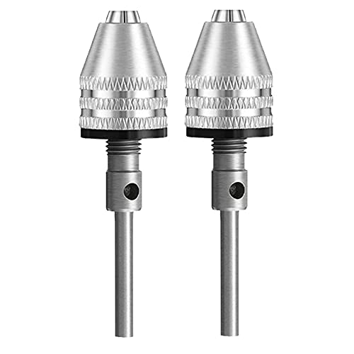 2pcs keyless Mini Drill Chuck 3mm Round Shank Mini Electric Grinding Drill Chuck Adapter Micro Drill Chuck Adapter 3-Jaw Chuck Machine Conversion Chuck Muye