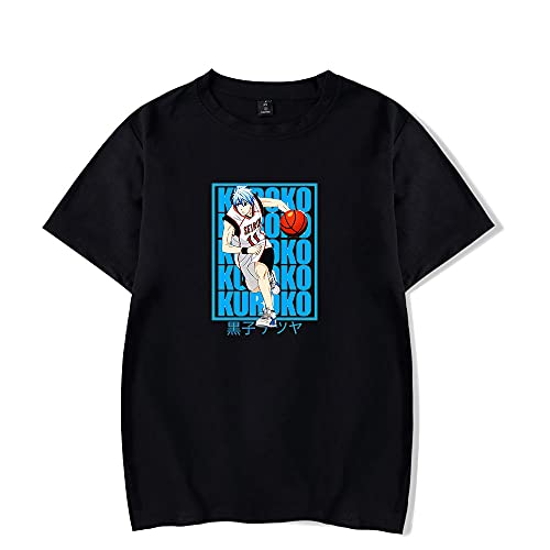 2021 New Anime Kuroko No Basket T-Shirt Casual Short Sleeved T Shirt Unisex Tee (Black,X-Large)