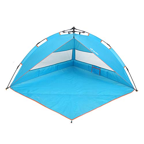 yodo Easy Up Beach Tent Sun Shelter Quick Cabana with Carry Bag,Anti UV for Outdoor Camping Fishing Picnic Hiking,Blue