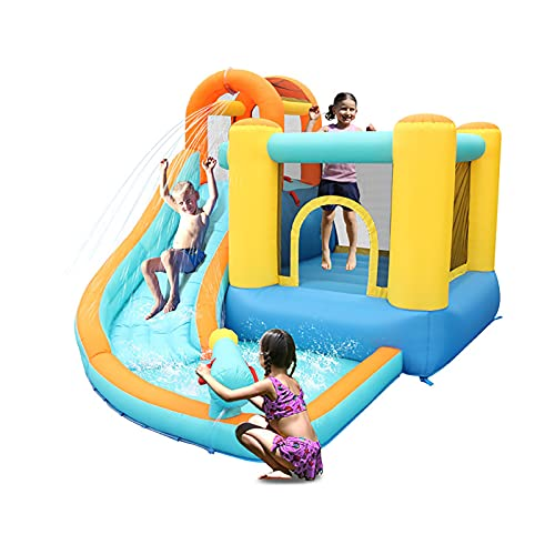 LGLE Parque de la piscina del tobogán acuático, gorila inflable de la diapositiva, castillo del escalador del tobogán acuático de la piscina, tobogán acuático de la casa de la despedida, 320X280