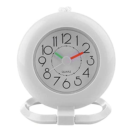 Uniqueheart Reloj de Pared Baño Ducha Pizarra Toalla Anillo con Reloj Colgante...