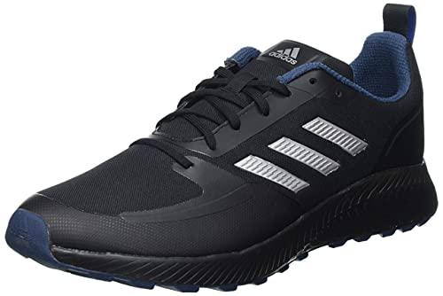 adidas Runfalcon 2.0 TR, Road Running Shoe Hombre, Core Black/Silver Metallic/Crew Navy, 42 2/3 EU
