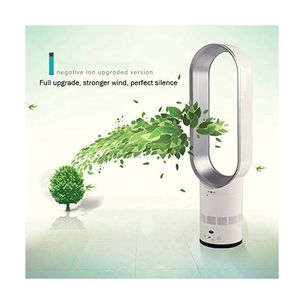 BYASW-Ventilador-Sin-Aspas-Super-Silencioso-Iones-Negativos-Refrigerador-De-Aire-De-Seguridad-Ventilador-Sin-Hojas-Ventilador-De-Torre-De-Control-Remoto-De-Pie-para-El-Hogar-La-OficinaPlata