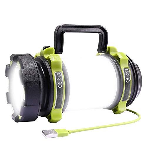 SDlamp Luz Acampada LED Recargable USB, Linterna De Campamento De 850 Lúmenes, Reflector Al Aire Libre Resistente Al Agua, para Emergencias, Pesca, Senderismo, Cortes De Poder Y Más