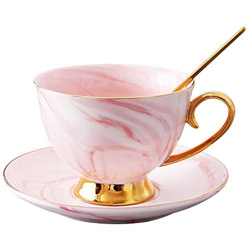 Europäische kleine Kaffeetasse-Set Skizze Gold Nachmittag Tee Tasse Kinder kreative Haus Marmor Keramik Tasse