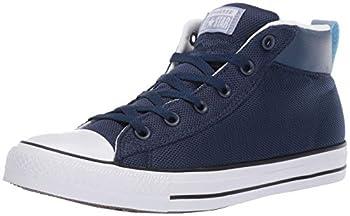 Converse Men s Unisex Chuck Taylor All Star Street Leather Mid Top Sneaker Navy/White/Indigo Fog 10 M US