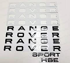 PUOU 3PCS Set Gloss Black Fit for R@.N.G.E R.O.V.E.R & Sport HSE Letters Badge Logo Front Rear Hood (GLOSS BLACK)