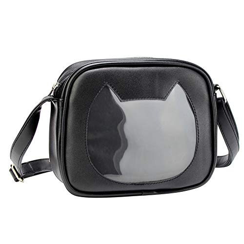 SteamedBun Ita Bag Cat Shaped Crossbody Ita Purse Cell Phone Wallet Shoulder Pins Bag with Insert