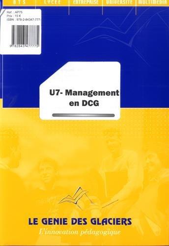 U7 Management En Dcg Par Sebastien Kulemann