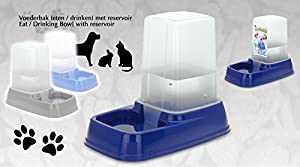 Distributeur automatique de nourriture/eau pour lapin/chien/chat 3 l Large