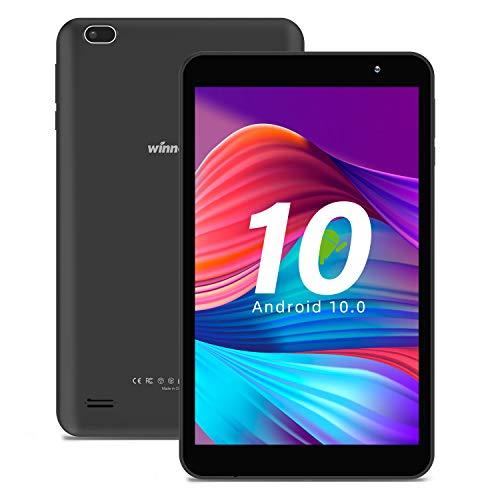 Tablet 8-Inch Android 10.0 - Quad Core Processor 32GB Storage HD IPS Display Gravity Sensor Dual Camera Bluetooth WiFi GPS FM Winnovo M8 (Black)