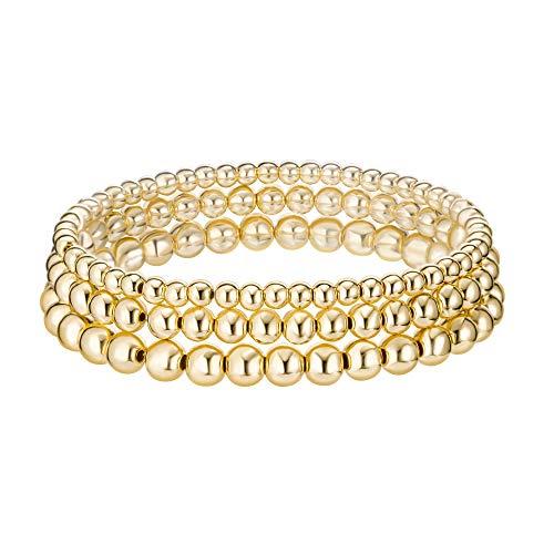 PengJin - Bracciale da donna con ciondolo a forma di cuore, in acciaio inox, ipoallergenico, per il compleanno delle ragazze e Rame, colore: Oro, cod. PJ-S7-SL05641-GD