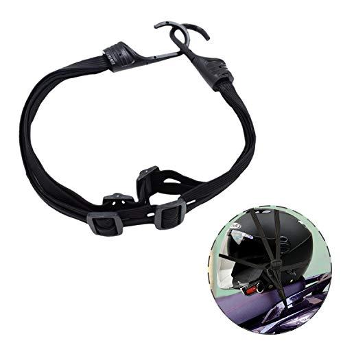 Dogxiong 60cm Motorcycle Helmet Luggage Net Helmet Elastic Rope, Retractable Helmet Cord with 2 Hooks Elastic Rope Strap for Motorcycle Helmet Luggage