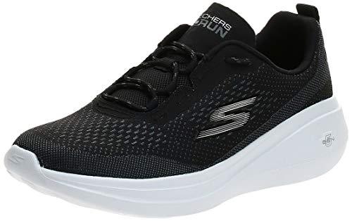 Skechers Women's GO Run FAST-15106 Sneaker, Black/White, 5 M...