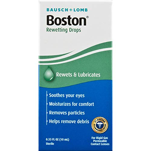 Boston Rewetting Drops for Rigid Gas Permeable Contact Lenses, 0.33 Ounce