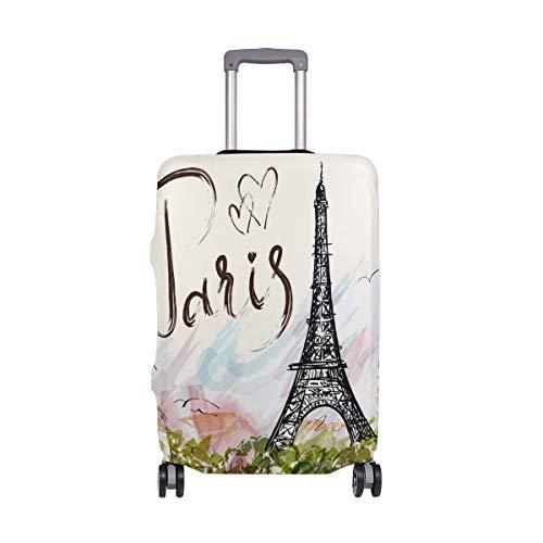 MyDaily Tour Eiffel - Copertura per valigia da viaggio in spandex, stile vintage