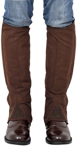 Riders Trend 100449B-CHOBGE-XL - Polainas de equitación, Color Chocolate/Beige, Talla XL