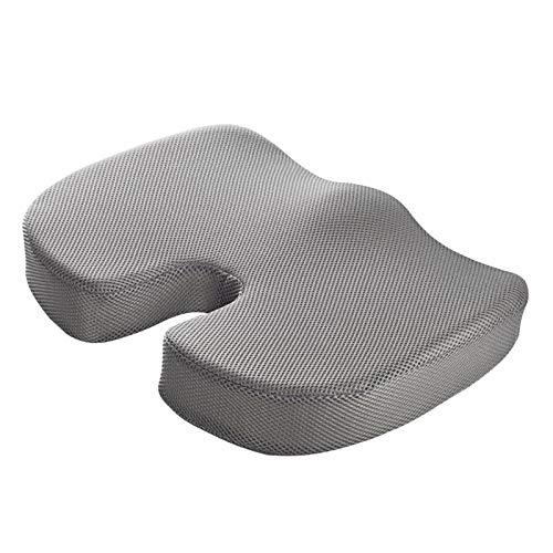 #N/A/a Gomma Piuma di Memoria Cuscino del Sedile-Non-Slip Ortopedico Coccige Cuscino per Coccige Dolore-Sedia da Ufficio Cuscino del Sedile Auto - Grigio