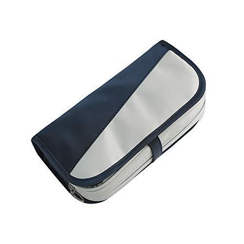 MiaodaM Pencil Case, Big Capacity Pencil Pouch Cosmetic Pouch with Zipper Slots Pencil Bag, for School Office Stationery
