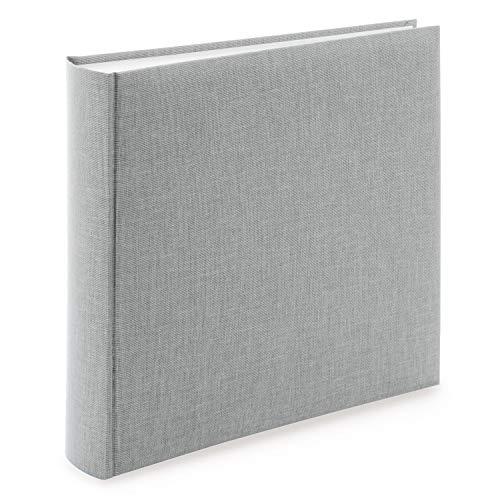 goldbuch Fotoalbum Summertime Trend 2 mit 100 weißen Seiten mit Pergamin-Trennblättern und Leineneinband, für bis zu 600 Bilder, 31606, Hochwertiges Papier, Grau, 30 x 31 cm