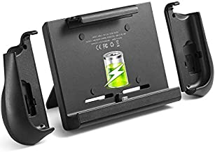 10000mAh Battery Charger Case for Nintendo Switch, YOBWIN Portable Backup Charger Station Console with a Pair of Joy-Con Grip, with Kick Stand & Game Card Slot Extended Battery Pack