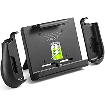 10000mAh Battery Charger Case for Switch YOBWIN Portable Backup Charger Station Console with a Pair of Joycon Grip with Kick Stand & Game Card Slot Extended Battery Pack