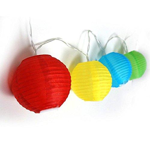 Longra Lantaarn, decoratief, van papier, lantaarn, bol, voor decoratie, bruiloft, rond, papier, Halloween, bruiloft, decoratie, waterdicht, duurzaam Meerkleurig