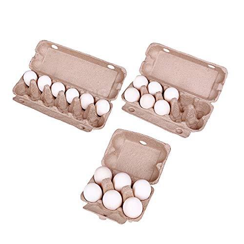 HSD Cajas de huevos de papel, bandeja para huevos, bandeja para huevos, bandeja para huevos, contenedor para huevos de gallina, frigorífico, color marrón