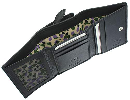 Mala Leather Hamilton Collection Small Leather Purse RFID Blocking 3520_44 Black