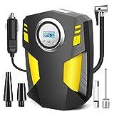Airsnigi Auto Kompressor, 150 PSI Tragbare Auto Luftpumpe Reifen Inflator Digitale Reifenpumpe, Kompressor 12V für Autoreifen für Auto, Fahrrad, Motorrad, Ball
