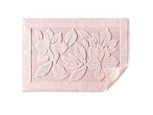 Bath Rug Bathroom Floor Mats - Washable Bathtub Shower Sink Floor Towels - 100% Turkish Cotton Bath Mat Foot Towels - Cream, Light Pink, Lighte Brown (1, Light Pink)