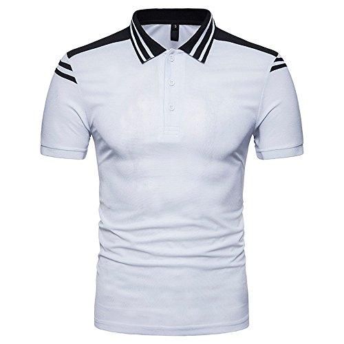 Hommes Polo Shirts à Manches Courtes Coton T-Shirt d'Eté Mince,Homme Décontracté avec Col à Rayure T-Shirt Casual Et Sport