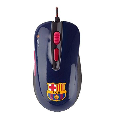 MARSGAMING Mars Gaming MMBC, Ratón Sensor Óptico 3200DPI, Oficial FC Barcelona Lassa, Azul