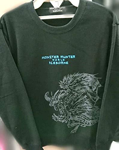 【Lサイズ メンズ】 モンスターハンターワールド アイスボーン ネルギガンテ 裏起毛 トレーナー ブラック モンハン