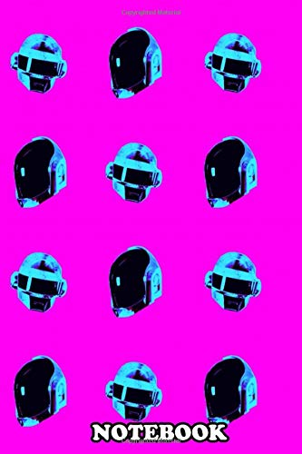 Notebook: Poster With A Repeated Pattern Made Of The Daft Punk He , Journal for Writing, College Ruled Size 6' x 9', 110 Pages