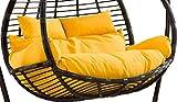 ZHBH Hammocks - Cojines para sillas con Forma de Hamaca de Doble Huevo, cojín para Columpios para sillas de jardín para Interiores y Exteriores, 110 x 150 cm (Color: Amarillo)