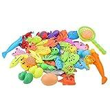 FOLOSAFENAR Regalo de Juguete de Pesca para bebés Colores Brillantes de Peces pequeños no tóxicos, para niños