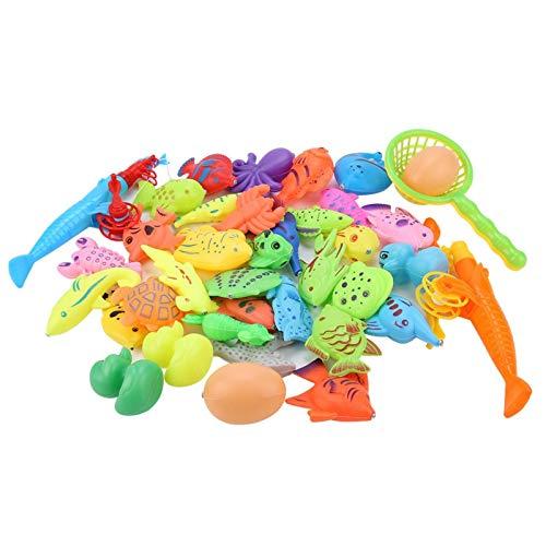 DAUERHAFT Juego de Juguetes de Pesca de plástico Premium de 39 Piezas/Set para niños