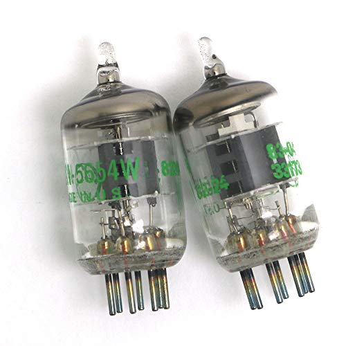 DollaTek 2Pcs 7-Pin 5654W Vakuumröhren - Upgrade für 6AK5 / 6J1 / 6J1P / EF95